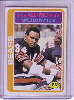 1978 Topps Walter Payton Card by CardboardHeroes on Etsy, $12.50