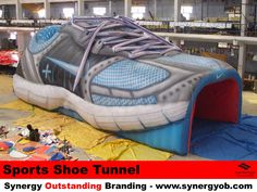 Inflatable Shoe, Sports Tunnel
