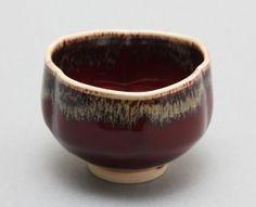 Wheelthrown Porcelain Triangular Tea Bowl / Chawan by hsinchuen, $50.00