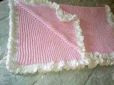 Crocheted baby afghan for Lily