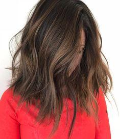 Hair Color Fall 2018 Asian 38 Ideas For 2019 - Modern Asian Hair Highlights, Hair Color Asian, Asian Hair Waves, Medium Brown Hair With Highlights, Subtle Highlights, Hair Color Balayage, Balayage Asian Hair, Asian Hair Lob, Asian Hair Trends