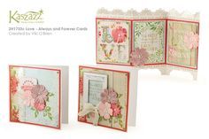 This project sheet will show you how to create this stunning set of three cards using the Heartfelt SB Paper range and stamps, and will also show you how to use Distress Ink and Perfect Pearls to colour embellishments. Love Always, Always And Forever, Some Cards, Distress Ink, Making Ideas, Cardmaking, Embellishments, Card Ideas, How To Find Out