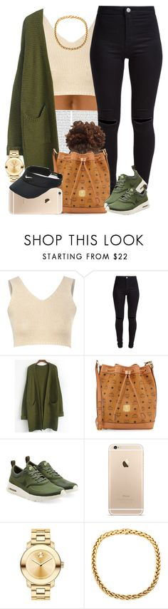 """Olive and Cream "" by livelifefreelyy ❤ liked on Polyvore featuring Glamorous, New Look, MCM, NIKE, Movado, women's clothing, women, female, woman and misses"