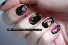 Dr. Martens Floral Inspired Nails www.chelseasgetnailed.com