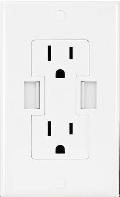 Wall plug with usb-connectors. - awesome!