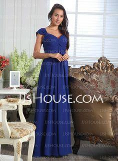 A-Line/Princess Sweetheart Floor-Length Chiffon Bridesmaid Dresses With Ruffle (007005166)