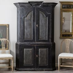 Swedish Baroque Cabinet, Ca 1750
