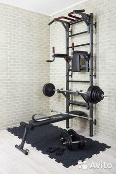 Мужской тренажёрный зал. Комплект подобран исходя из предпочтений большинства спортсменов. Можно выполнять все упражнения на ...