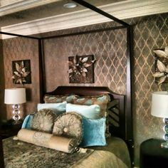 Stencil and suede with glitter Extraordinary Wall Designs Cassy Wedell