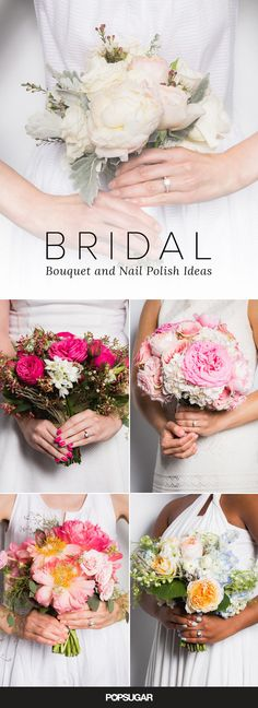 Coordinate your nails with your bouquet