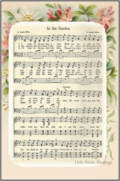 For my mother carolyn the hymn in the garden by c austin miles