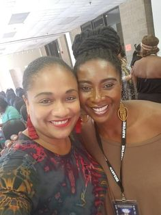Vikki Johnson strikes a pose with singer/songwriter Kenya McGuire Johnson at the 2018 NABFEME Summit in Philly. National Association, Strike A Pose, Kenya, Equality, Wealth, Singer, Poses, Female, Hair Styles