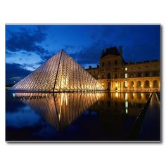 Pyramid in Louvre Museum,Paris,France Postcards