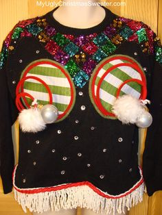 naughty ugly christmas sweater
