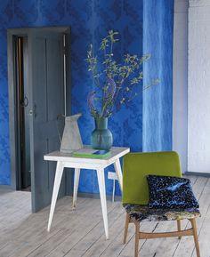 Blue room /Designers Guild Aksu wallpaper