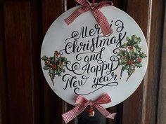 (112) Adornos navideños para decorar tu puerta-transferencia con thinner Pinturas Eterna #gracielaherman - YouTube