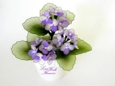 Charming purple hydrangea is a spring flower. Handcraft nylon