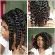 Chunky Flat Twist Out :)