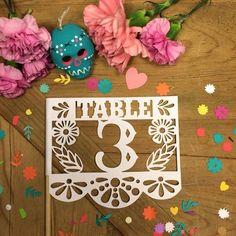 Fiesta inspired table numbers @myweddingdotcom