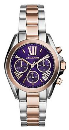 gold and purple Michael Kors watch  http://rstyle.me/~2XsDe