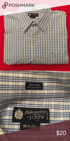 J Crew Blue/White Oxford Haberdashery by J Crew Shirt. Button down Oxford with pocket over left chest. Like new, in great shape. Blue and white stripes. 100% cotton. J. Crew Shirts Casual Button Down Shirts