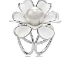 Unikátna ozdoba s názvom Biela perla - www.malovany-hodvab.sk