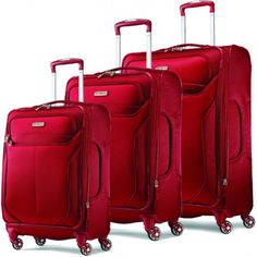 Samsonite 3 Piece Set Durable luggage for the entire family, the 3 Piece Set from Samsonite is perfect for any traveler. These ultra lightweight and Best Carry On Luggage, Cute Luggage, Travel Luggage, Travel Bags, Pink Luggage, 3 Piece Luggage Set, Luggage Sets, Hard Sided Luggage, Samsonite Luggage