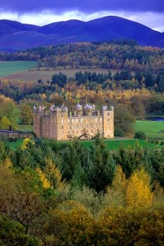 Drumlanrig Castle on the Queensberry Estate in Dumfries and Galloway, Scotland.