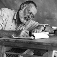 "Ernest Hemingway   ""The only certainty about writing and trying to be a writer is that it has to be done, not dreamed of or planned and never written, or talked about (the ego eventually falls apart like a soaked sponge), but simply written; it's a dreadful, awful fact that writing is like any other work.""  —Janet Frame, from Walking on Alligators: A Book of Meditations for Writers by Susan Shaughnessy"