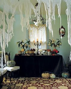 halloween cobwebs on furniture | ... -Jantom: How to decorate your house for Halloween? - Ideas and Photos