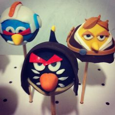 angry birds star wars pop cakes @Mallorie Kelly co