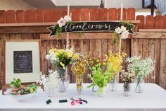 loving this idea of a floral crown station - inspired from @merricksart's summer floral affair #flowercrown #diy #crafts