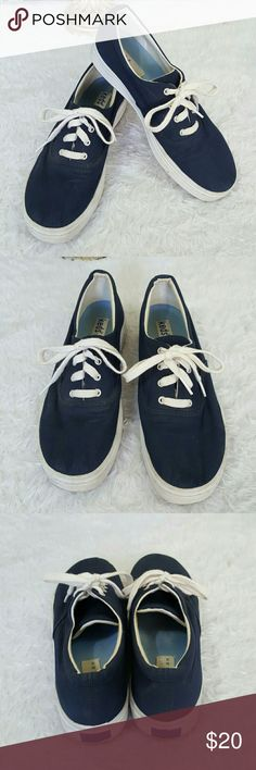 Keds blue canvas sneakers Nice comfortable Keds perfect for spring! Keds Shoes Sneakers