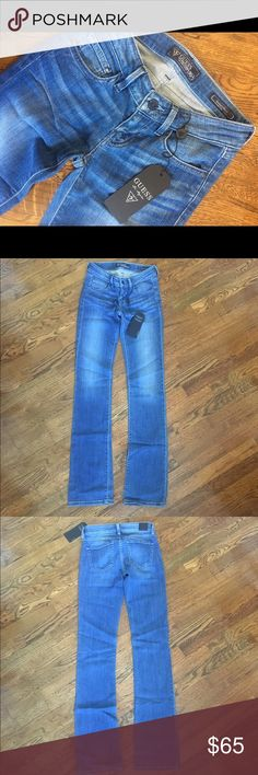 Guess Jeans Guess Starlet- Boot Jeans are perfect for a running errands to a night on the town! I wish they still fit me !! NEW WITH TAGS! Size 23. Guess Jeans Flare & Wide Leg