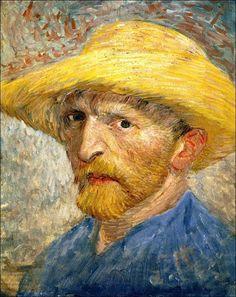 Self Portrait, 1887-Vincent van Gogh ...one of the most interesting lives, you can know his emotions through his self-portraits.