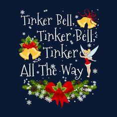 Disney Christmas Tinkerbell Jingle Bells Men's T-Shirt