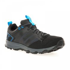 Adidas Performance Adidas Men's Kanadia 7 Running Shoes (Black/Charcoal/Blue) - Adidas Performance from Loofes UK