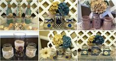#Rustic #MasonJars #HomeDecor - ElsiesCreativeDesign.etsy.com  #RusticWedding #WeddingDecor #HomeDecor #Babyshower
