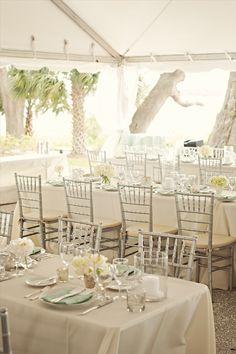 Wedding reception decorations featuring chiavari chairs www.chiavarichairs.com