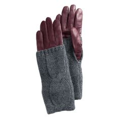 Leather + Cashmere = Perfect winter gloves