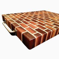 Black Walnut And Rock Maple End Grain Cutting Board by Nicholas  Henton