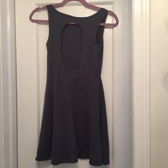 Gray Ocean Drive Cutout Back Dress Ocean Drive Stretchy Cotton and Spandex. So so comfortable, the back is a cut out circle. Size small. I wore it once and had it cleaned. Ocean Drive Dresses Mini