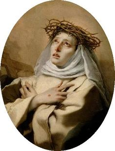 """O my soul, what are you doing? Are you not aware that God sees you always? You can never hide yourself from His sight. O Father, have pity on us because we are blind and in darkness. Drive out the darkness and give me light. Melt the ice of my self-love and kindle in me the fire of Your charity.""""   -St. Catherine of Siena"""