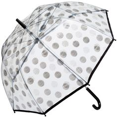 H&M Umbrella found on Polyvore featuring accessories, umbrellas, spotted, dot umbrella, polka dot umbrella, see through umbrella, transparent umbrella and h&m