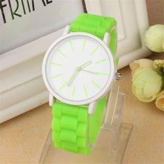 Watch Women Clock Silicone Rubber Jelly Gel Quartz Analog Sports Women Wrist Watch Unisex Leisurely Wholesale Beautiful Gift M/3