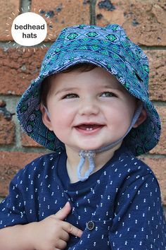 Bedhead s baby bucket hat in  Muchacho  print for both newborn babies and  kids has 9e66537417d