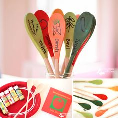 DIY Garden Markers with Growing Vegetable Soup