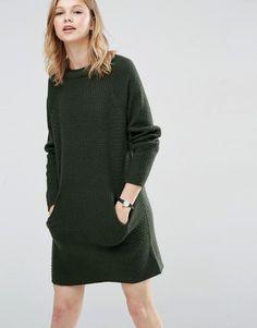 Bild 1 von ASOS – Pulloverkleid mit Doppelkragen und Taschen