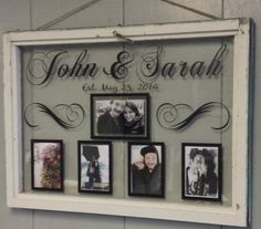 Vintage Window Single Pane Picture Frames by VaughnCustomCreation, $75.00 personalized for you. Home decor, couple, wedding, marriage, anniversary, gift/present, vintage Window, old window, vintage.
