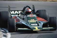 Mario Andretti drives the Martini Racing Team Lotus Ford Cosworth 80 during qualifying for the Marlboro Daily Mail Race of Champions on 14 April 1979 at the Brands Hatch circuit in Fawkham, Great Britain. Racing Team, F1 Racing, Grand Prix, Le Mans, Ferrari, F1 Lotus, Men Are Men, Mario Andretti, Martini Racing